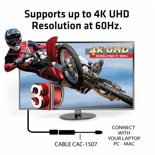 Club 3D USB 3.1 Type C To DisplayPort 1.2 4K60Hz UHD Adapter Alternate-Image2/500