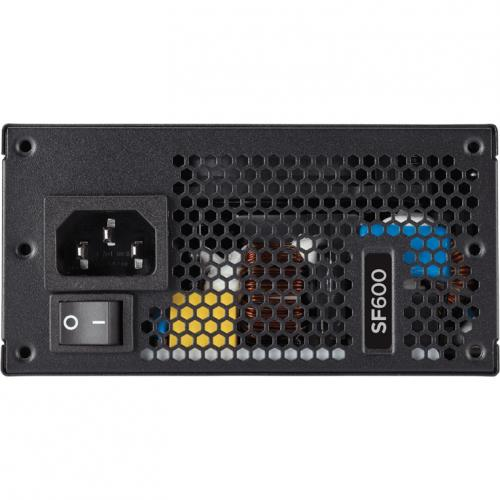 Corsair SF Series SF600   600 Watt 80 Plus Gold Certified High Performance SFX PSU Alternate-Image2/500