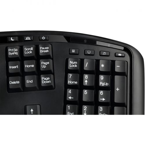 Adesso Tru Form 3500   2.4 GHz Wireless Ergonomic Trackball Keyboard Alternate-Image2/500