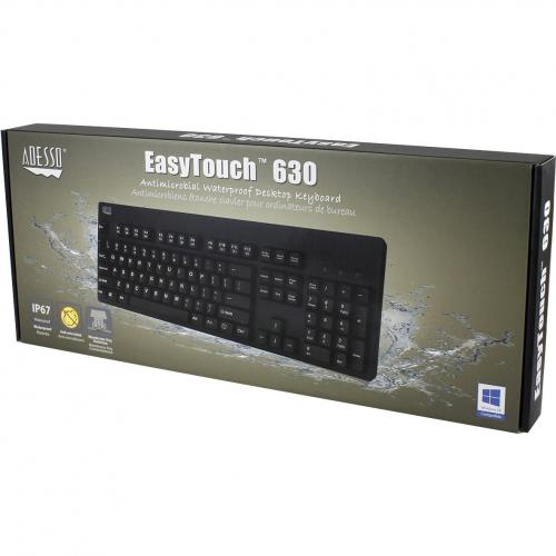Adesso EasyTouch 630UB   Antimicrobial Waterproof Keyboard Alternate-Image2/500