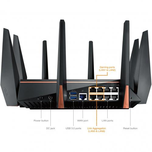 Asus ROG Rapture GT AC5300 IEEE 802.11ac Ethernet Wireless Router Alternate-Image2/500