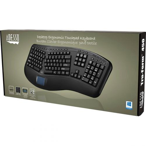 Adesso Tru Form 450   Ergonomic Touchpad Keyboard Alternate-Image2/500