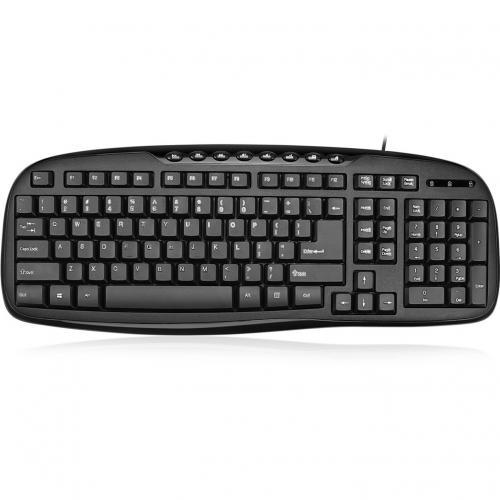 Adesso EasyTouch AKB 133CB Desktop USB Multimedia Keyboard And Mouse Combo Alternate-Image2/500
