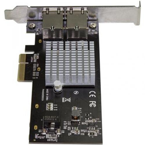 StarTech.com Dual Port 10G PCIe Network Adapter Card   Intel X550AT 10GBASE T PCI Express 10GbE Multi Gigabit Ethernet 5 Speed NIC 2port Alternate-Image2/500