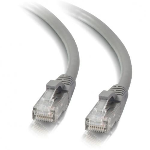 C2G 50ft Cat5e Snagless Unshielded (UTP) Network Patch Cable   Gray Alternate-Image2/500