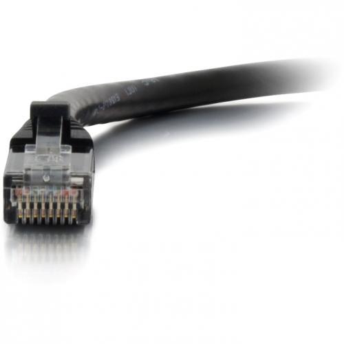 C2G 1ft Cat6 Ethernet Cable   Snaglass Unshielded (UTP)   Black Alternate-Image2/500