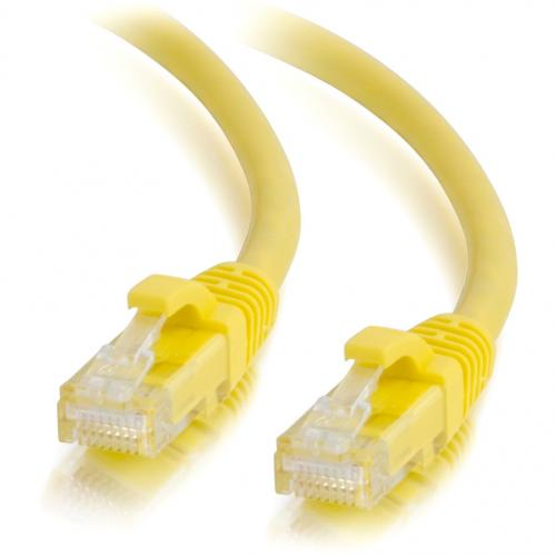 C2G 3ft Cat6 Ethernet Cable   Snagless Unshielded (UTP)   Yellow Alternate-Image2/500