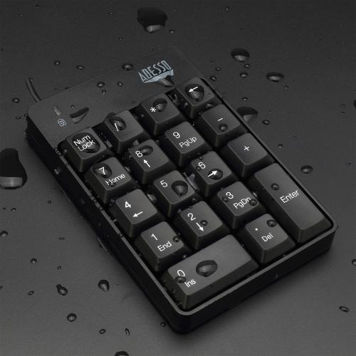 Adesso AKB 601UB   USB Spill Resistant 18 Key Numeric Keypad Alternate-Image2/500