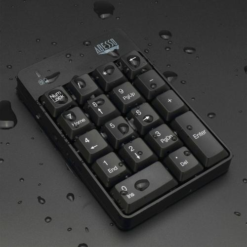 Adesso WKB 6010UB   Wireless Spill Resistant 18 Key Numeric Keypad Alternate-Image2/500