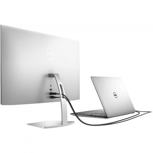 """Dell Ultra Thin 23.8"""" Monitor Black & Silver     1920 X 1080 Full HD Display   5ms Response Time   In Plane Switching Technology   Flicker Free Screen W/ Comfort View   Corning Iris Glass Light  Guide Plate Alternate-Image2/500"""