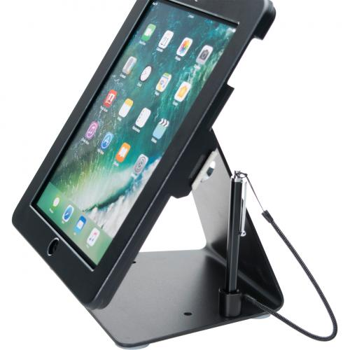 CTA Digital Desktop Anti Theft Stand Ipad Black Case Rotates 360 Degrees Alternate-Image2/500