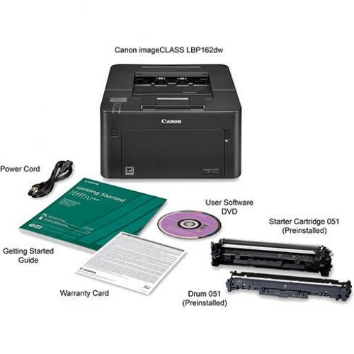 Canon ImageCLASS LBP LBP162dw Desktop Laser Printer   Monochrome Alternate-Image2/500
