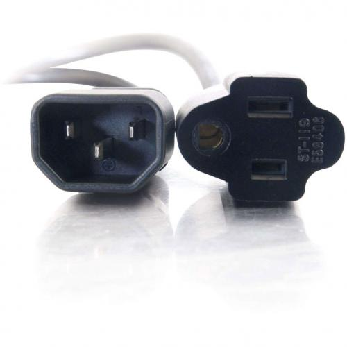 C2G 6ft 18 AWG Monitor Power Adapter Cord (IEC320C14 To NEMA 5 15R) Alternate-Image2/500