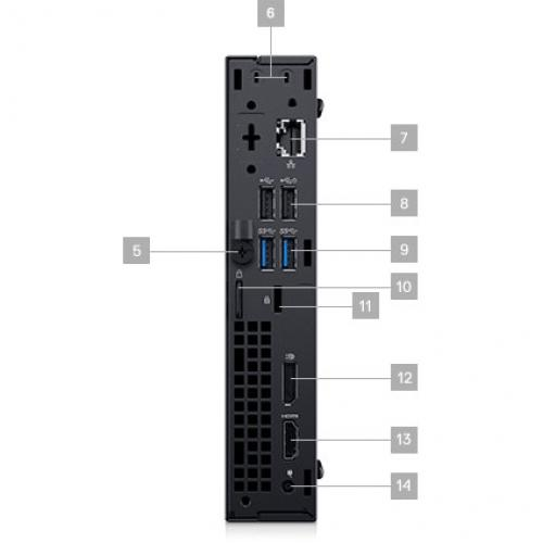 OPTIPLEX 3060 CORE I3 8 8100T 8GB 1DIMMS 500GB 7.2K W9377 W10 Alternate-Image2/500
