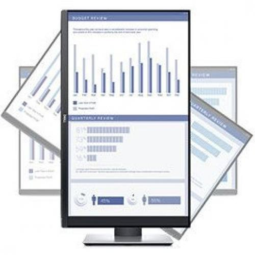 "Dell P  Series 23.8"" Monitor Black & Silver    LED Back Lit   1920 X 1080 Full HD Resolution   Flicker Free Screen W/ ComfortView   Widescreen (16:9)   Three Sided Ultrathin Bezel Design Alternate-Image2/500"