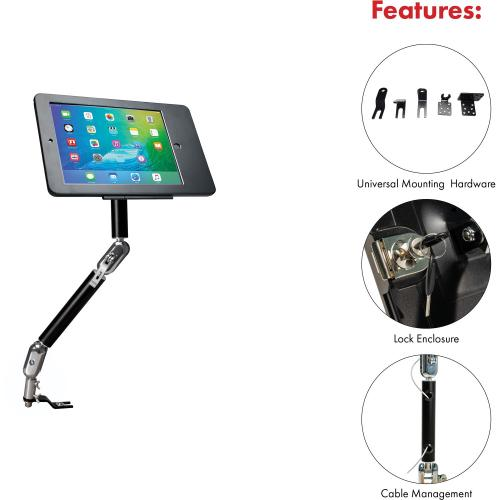 CTA Digital Multi Flex Vehicle Mount For IPad, IPad Pro, IPad Air, Tablet Alternate-Image2/500
