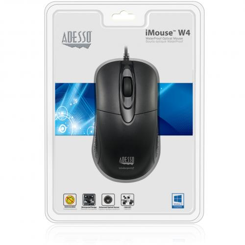 Adesso IMouse W4   Waterproof Antimicrobial Optical Mouse Alternate-Image2/500