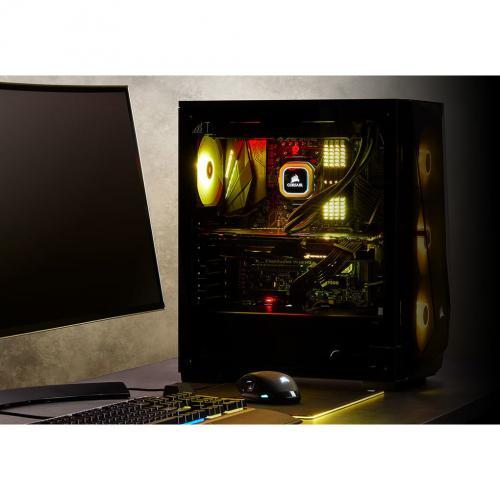 Corsair Carbide Series SPEC DELTA RGB Tempered Glass Mid Tower ATX Gaming Case   Black Alternate-Image2/500