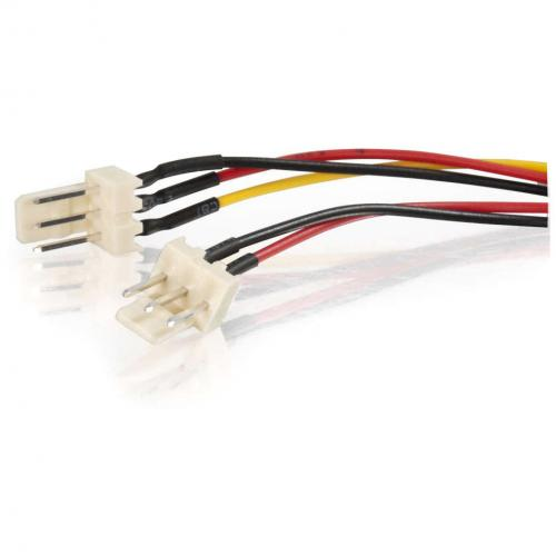C2G 4in 3 Pin Fan Power Y Cable Alternate-Image2/500