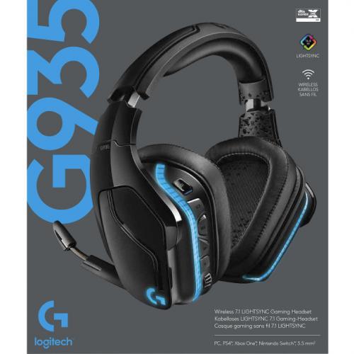 Logitech G935 Wireless 7.1 Surround Lightsync Gaming Headset Alternate-Image2/500