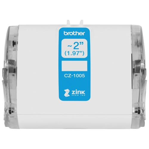 "Brother Genuine CZ 1005 Continuous Length ~ 2 (1.97"") 50 Mm Wide X 16.4 Ft. (5 M) Long Label Roll Featuring ZINK® Zero Ink Technology Alternate-Image2/500"