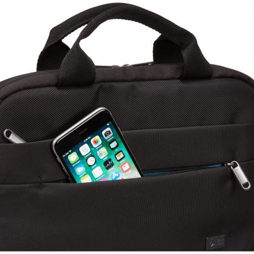 "Case Logic Advantage Carrying Case (Attaché) For 11.6"" Notebook, Tablet PC, Pen, Portable Electronics, Cord, Cellular Phone, File   Black Alternate-Image2/500"