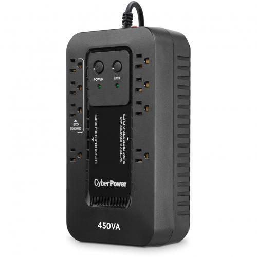 CyberPower Ecologic EC450G 450VA Compact UPS Alternate-Image2/500