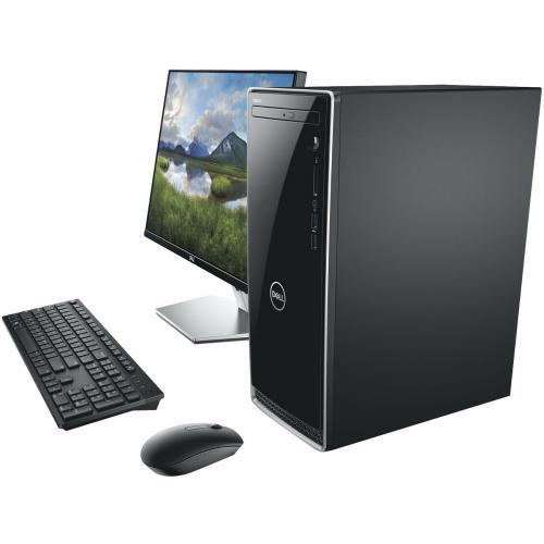Dell Inspiron 3670 Desktop Computer Intel Core I5 8GB RAM 1TB HDD Black   9th Gen I5 9400 Hexa Core   Intel UHD Graphics 630   Keyboard & Mouse Included   DVD Writer   Mini Tower Form Factor   Windows 10 Home Alternate-Image2/500