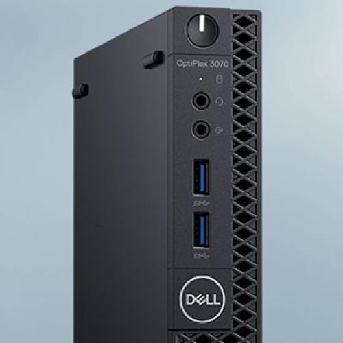 Dell OptiPlex 3000 3070 Desktop Computer   Intel Core I3 9th Gen I3 9100T 3.10 GHz   8 GB RAM DDR4 SDRAM   500 GB HDD   Micro PC Alternate-Image2/500