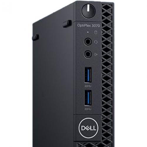 Dell OptiPlex 3000 3070 Desktop Computer   Intel Core I3 9th Gen I3 9100T 3.10 GHz   4 GB RAM DDR4 SDRAM   500 GB HDD   Micro PC Alternate-Image2/500