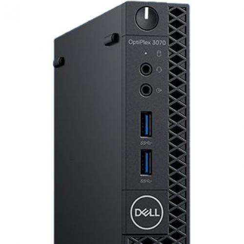 Dell OptiPlex 3000 3070 Desktop Computer   Intel Core I3 9th Gen I3 9100T 3.10 GHz   4 GB RAM DDR4 SDRAM   128 GB SSD   Micro PC Alternate-Image2/500