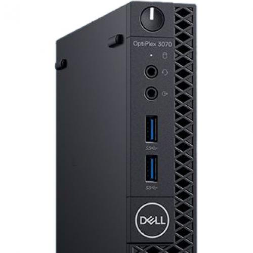 Dell OptiPlex 3000 3070 Desktop Computer   Intel Core I3 9th Gen I3 9100T 3.10 GHz   4 GB RAM DDR4 SDRAM   500 GB HDD   Micro PC Alternate-Image2/500