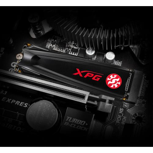 XPG GAMMIX S5 AGAMMIXS5 256GT C 256 GB Solid State Drive   M.2 2280 Internal   PCI Express NVMe (PCI Express NVMe 3.0 X4) Alternate-Image2/500