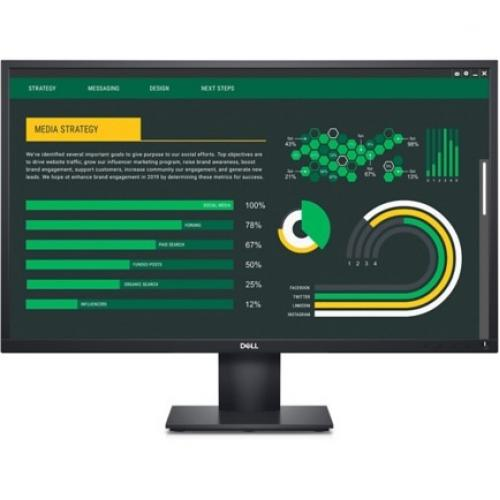 """Dell E2720H 27"""" LCD LED Monitor   1920 X 1080 FHD Display @ 60 Hz   In Plane Switching Technology   DisplayPort HDCP 1.2   Adjustable Tilt Position   5 Ms Response Time (fast) Alternate-Image2/500"""