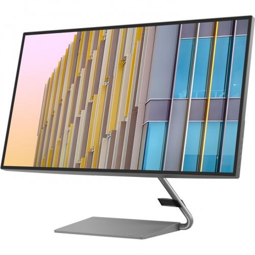 "Lenovo Q27h 10 27"" WQHD WLED LCD Monitor   16:9   Gray Alternate-Image2/500"