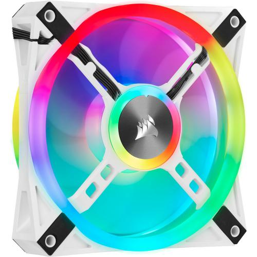 Corsair QL Series, ICUE QL120 RGB, 120mm RGB LED PWM White Fan, Single Fan Alternate-Image2/500