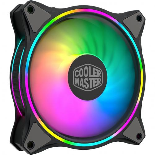 Cooler Master MasterFan MF120 Halo Duo Ring Addressable RGB Lighting 120mm Fan With Independently Controlled LEDs, Absorbing Rubber Pads, PWM Static Pressure For Computer Case & Liquid Radiator Alternate-Image2/500