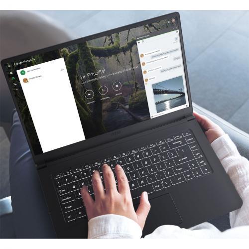 "MSI Modern 15 A10M 261 15.6"" Gaming Notebook   Full HD   1920 X 1080   Intel Core I7 (10th Gen) I7 10510U 1.80 GHz   16 GB RAM   512 GB SSD   Onyx Black Alternate-Image2/500"
