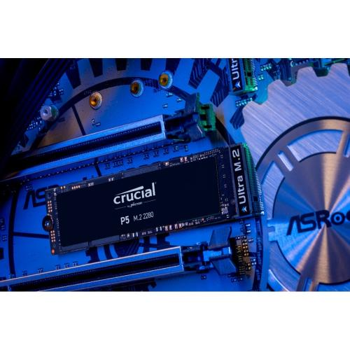 Crucial P5 CT500P5SSD8 500 GB Solid State Drive   M.2 2280 Internal   PCI Express NVMe (PCI Express NVMe 3.0) Alternate-Image2/500