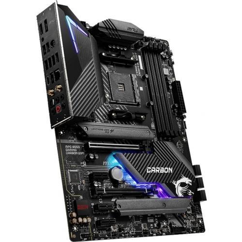 MSI MPG B550 GAMING CARBON WIFI Desktop Motherboard   AMD Chipset   Socket AM4   ATX Alternate-Image2/500