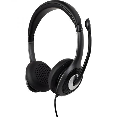 V7 USB C Deluxe Headset With Noise Cancelling Mic, Volume Control, Digital Headset, Laptop Computer, Chromebook, PC   Black, Gray Alternate-Image2/500