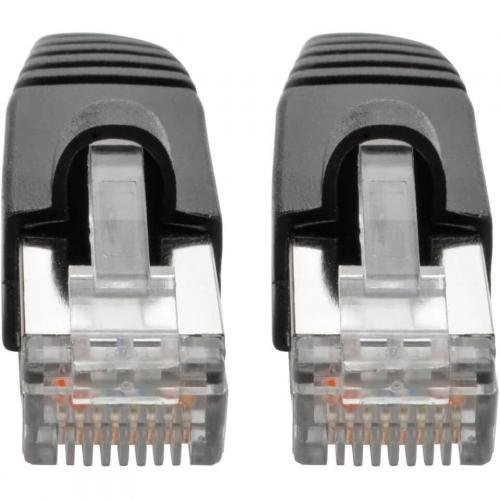 Tripp Lite Cat6a Ethernet Cable 10G STP Snagless Shielded PoE M/M Black 8ft Alternate-Image2/500