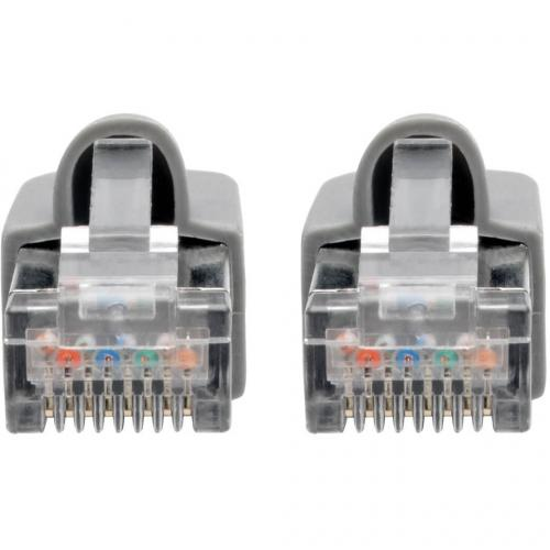 Tripp Lite Cat6a Ethernet Cable 10G STP Snagless Shielded PoE M/M Gray 8ft Alternate-Image2/500