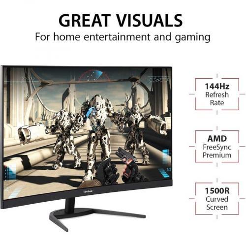 "Viewsonic VX3268 2KPC MHD 31.5"" WQHD LED Gaming LCD Monitor   16:9 Alternate-Image2/500"