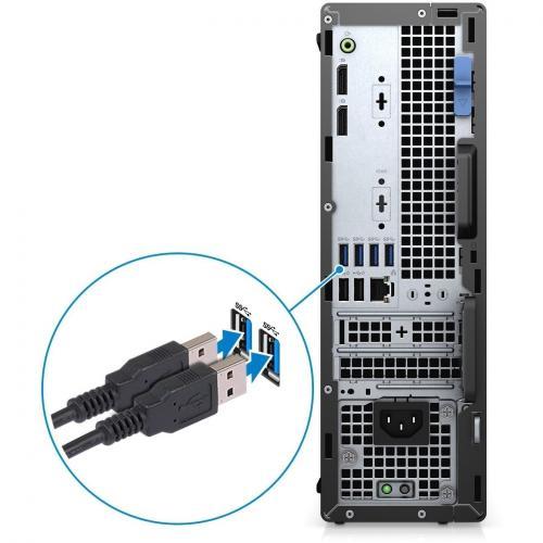 Dell OptiPlex 5000 5080 Desktop Computer   Intel Core I7 10th Gen I7 10700 Octa Core (8 Core) 2.90 GHz   16 GB RAM DDR4 SDRAM   1 TB HDD   Small Form Factor Alternate-Image2/500