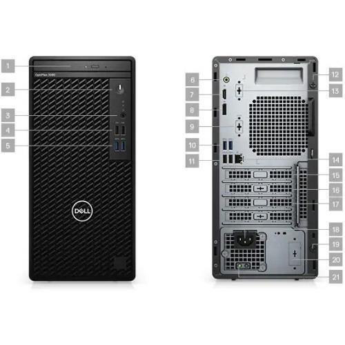 Dell OptiPlex 3000 3080 Desktop Computer   Intel Core I5 10th Gen I5 10500 Hexa Core (6 Core) 3.10 GHz   8 GB RAM DDR4 SDRAM   1 TB HDD   Tower Alternate-Image2/500
