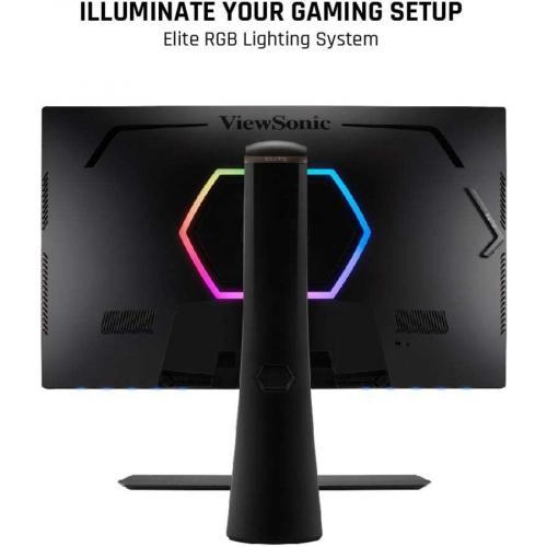 "Viewsonic Elite XG270Q 27"" LED Gaming Monitor Black   2560 X 1440 LCD Display   120 Hz Refresh Rate   16.7 Million Colors   1ms Response Time   Backlight LED Technology Alternate-Image2/500"