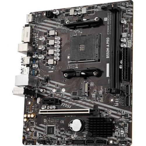 MSI B550M A PRO MATX Motherboard DVI, HDMI Alternate-Image2/500