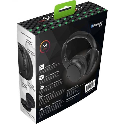Morpheus 360® SYNERGY Wireless Noise Cancelling Over Ear Headphones, AptX® Immersive Sound, CVC 8.0 Noise Cancelling Microphone, 40 Hour Play Time, Travel Case, Black HP9500B Alternate-Image2/500