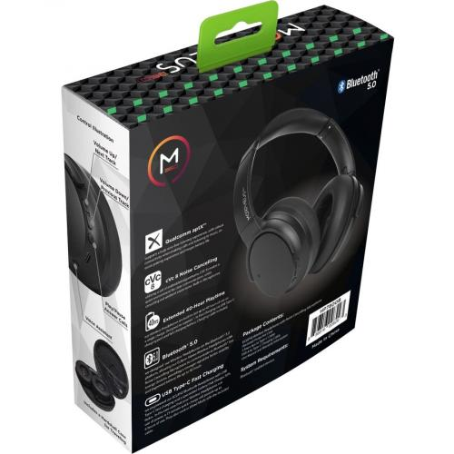Morpheus 360® KRAVE Wireless Over Ear Headphones, AptX® Immersive Sound, CVC 8.0 Noise Cancelling Microphone, 40 Hour Play Time, Travel Case, Black HP7800B Alternate-Image2/500